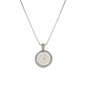 White gold 18k with pearl...