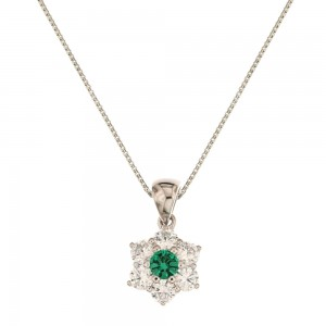 White gold 18k green and...