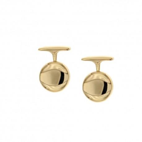 Gold 18k 750/1000 shiny man cufflinks