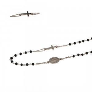 Girocollo rosario in oro 18...