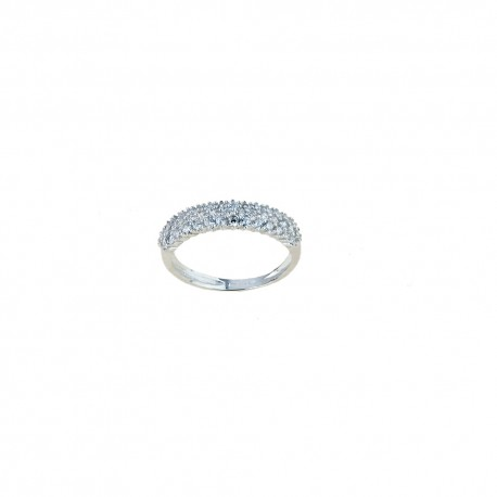 White gold 18k 750/1000 with white cubic zirconia ring