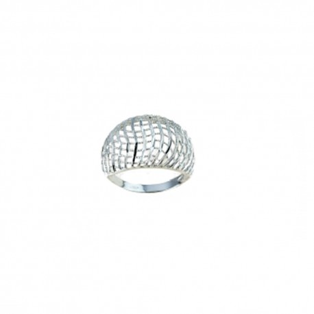 White gold 18k 750/1000 shiny and openworked woman ring