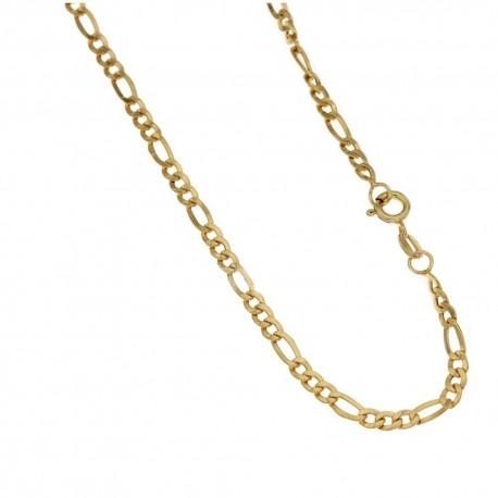 Yellow gold 18k 750/1000 shiny 3+1 type man chain