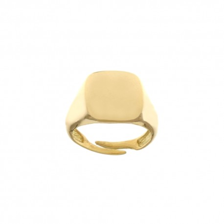 Yellow Gold 18 Kt 750/1000 Shiny for pinkie Man Ring