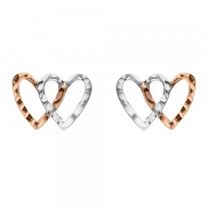 White and rose gold 18 K...