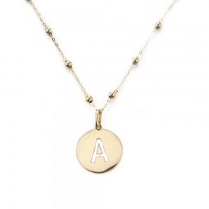 Collana alphabet in oro...