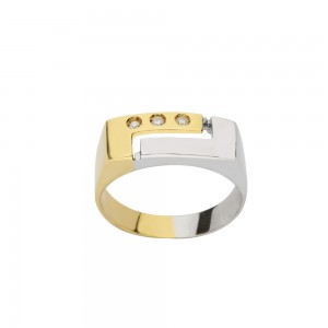 White and yellow gold 18 K...
