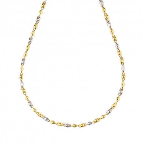 Yellow and white gold 18k man chain