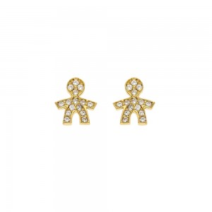 Yellow gold 18k with cubic...