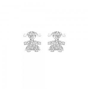 White gold 18k with cubic...