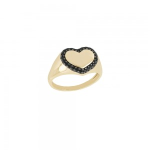 Yellow gold 18k with black...