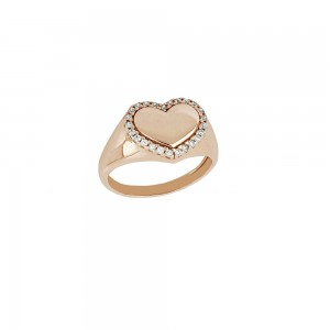 Rose gold 18k with white...