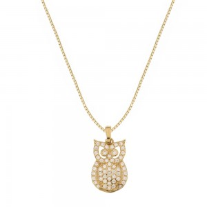 Yellow gold 18k with owl...