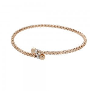 Rose and white gold 18k...