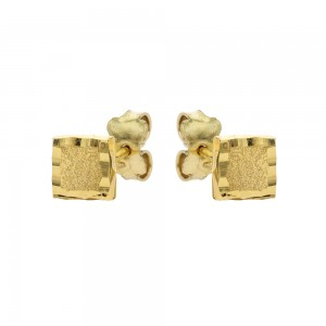 Yellow gold 18k square...