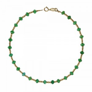 Yellow gold 18k with green...