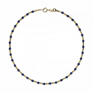 Yellow gold 18k with blue...