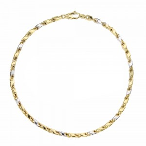 Bicolor Gold 18k Link Chain...