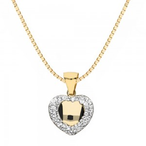 Gold 18k with Rounded Heart...