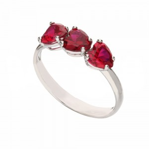 White Gold 18k with Red...