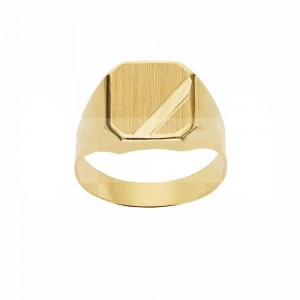 Yellow Gold 18k Shield Type...