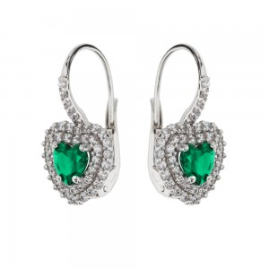 White Gold 18k with Green...