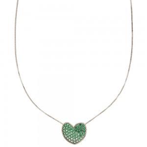 White gold 18k heart shaped...