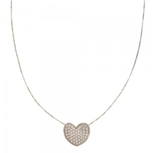 White gold 18k with heart...